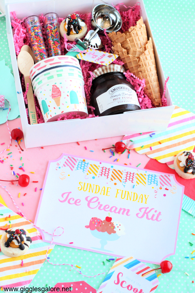 Sundae funday free printable ice cream kit