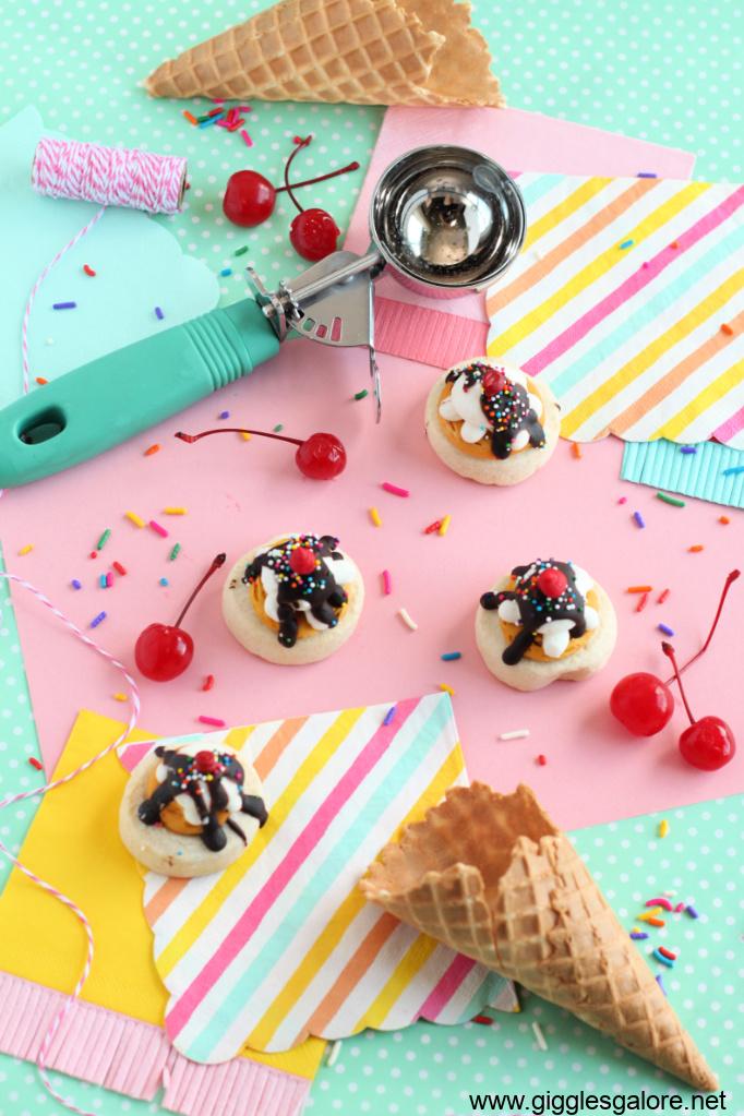 Sundae funday ice cream cookies