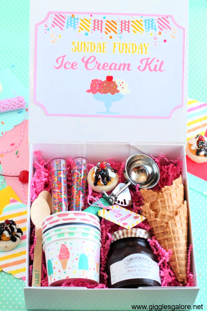 Sundae funday ice cream kit