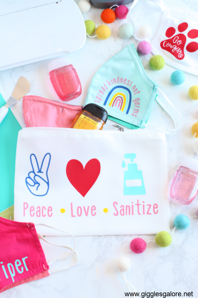 Back to school essentials mask and sanitizer