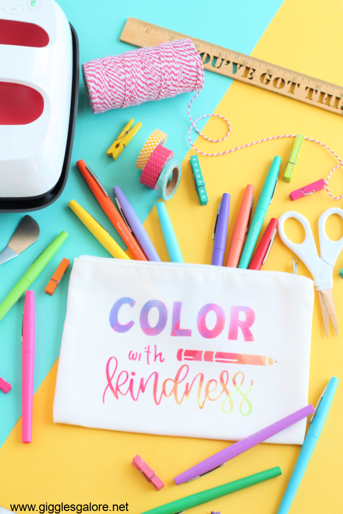 Color with kindness pencil bag