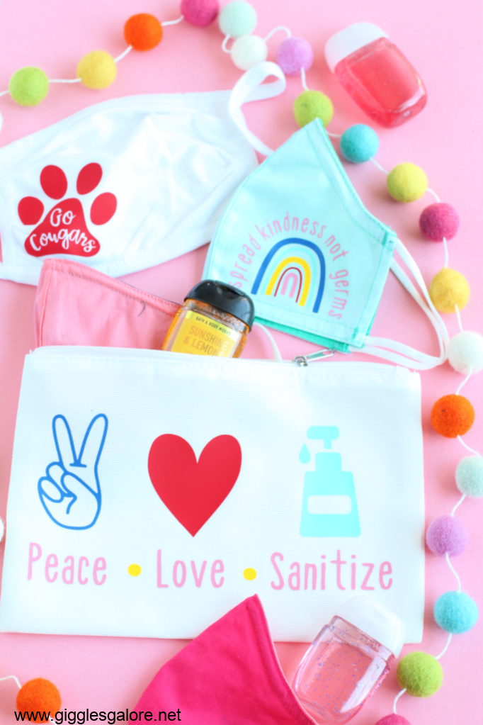 Colorful personalized mask and bag