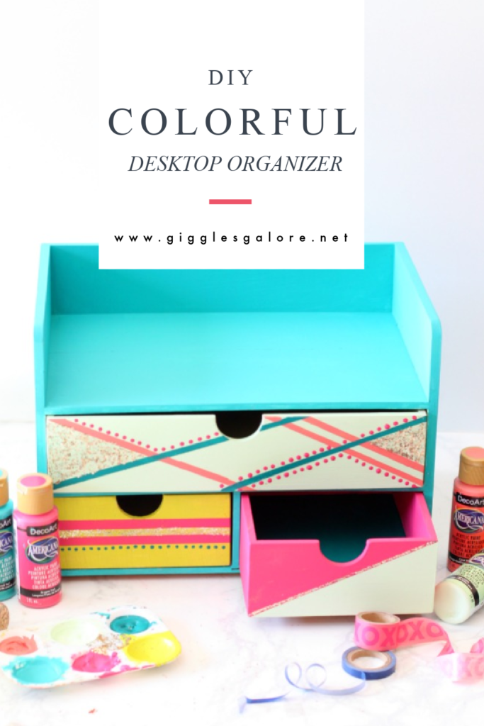 Diy colorful desktop organizer