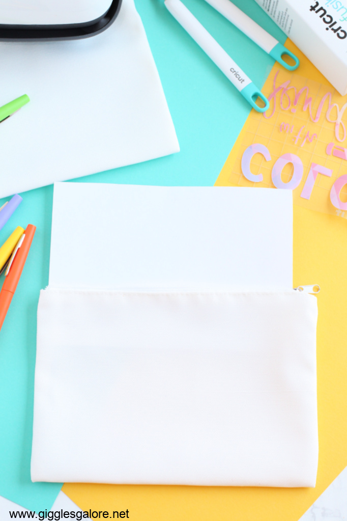 Diy infusible ink pencil pouch cardstock