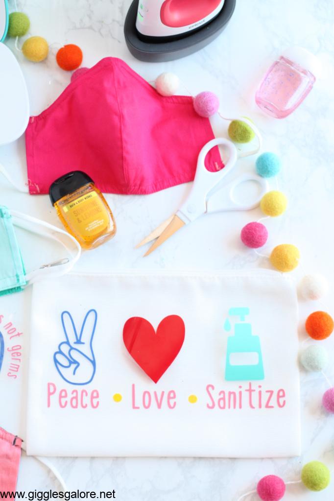 Peace love sanitize svg