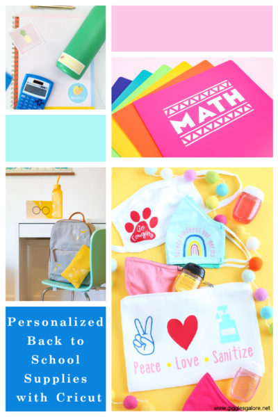Personalized back to school supplies with cricut