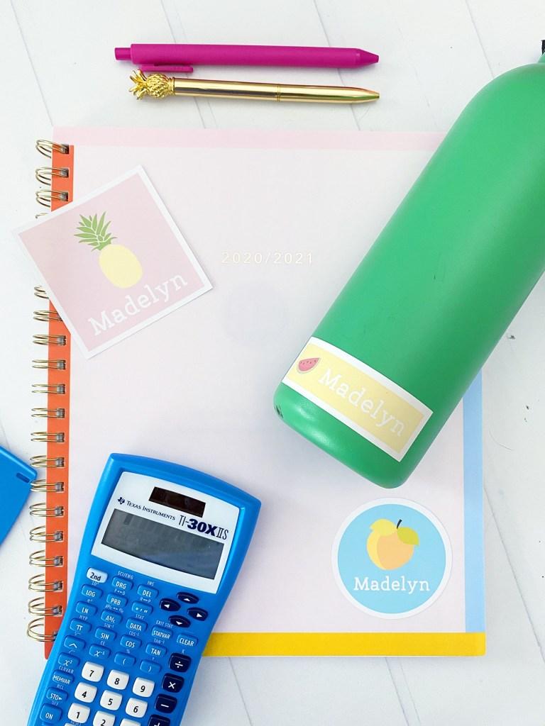 Personalized school supplies cricut print then cut