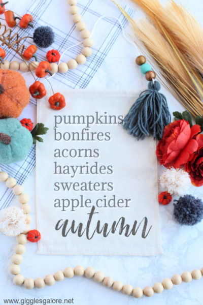 Autumn bucket list banner