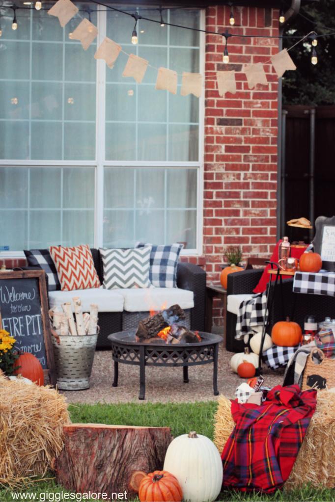 Backyard roast and toast fall party