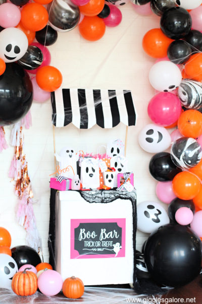 Boo bar halloween treat stand
