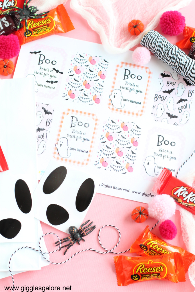 Boo halloween printable treat tags