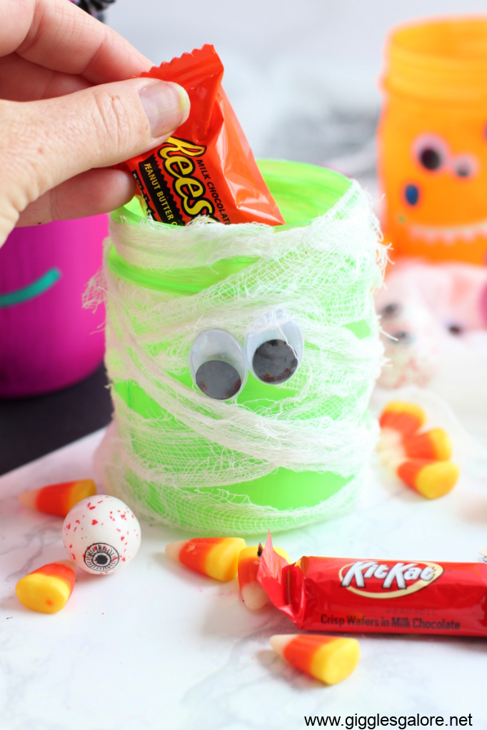 Candy monster jars