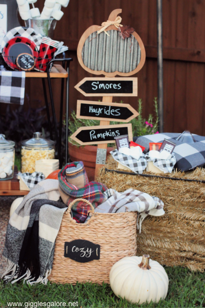 Cozy blankets fire pit party