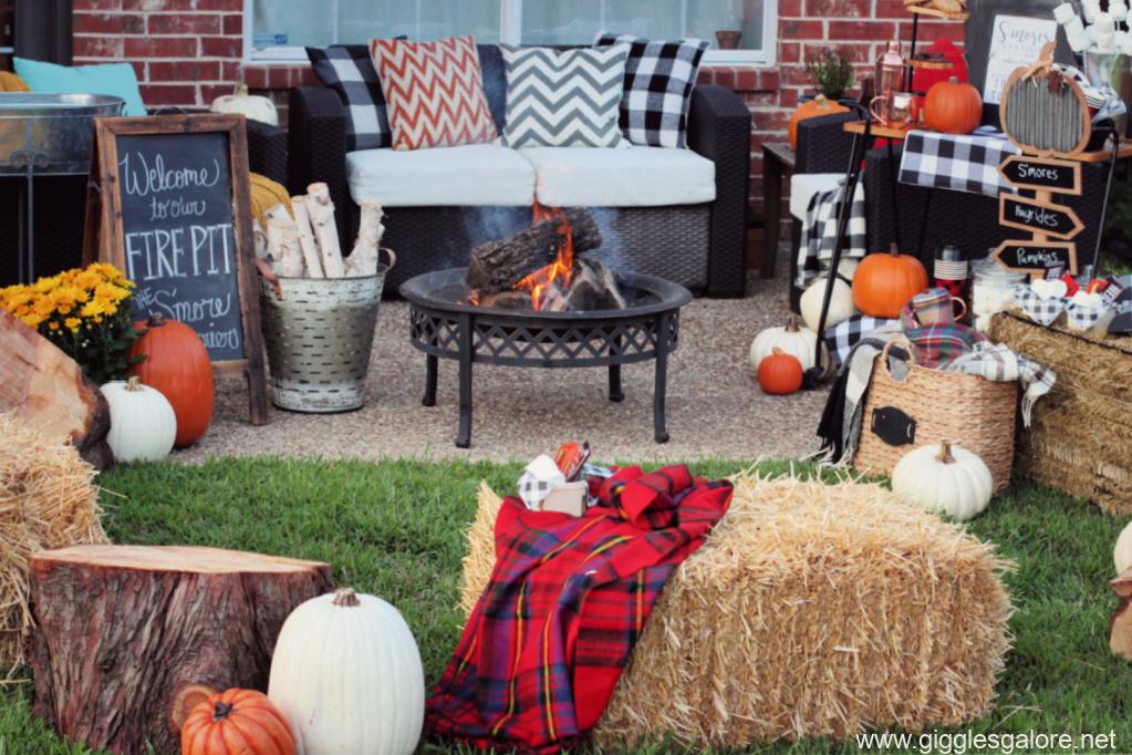 Cozy bonfire seating