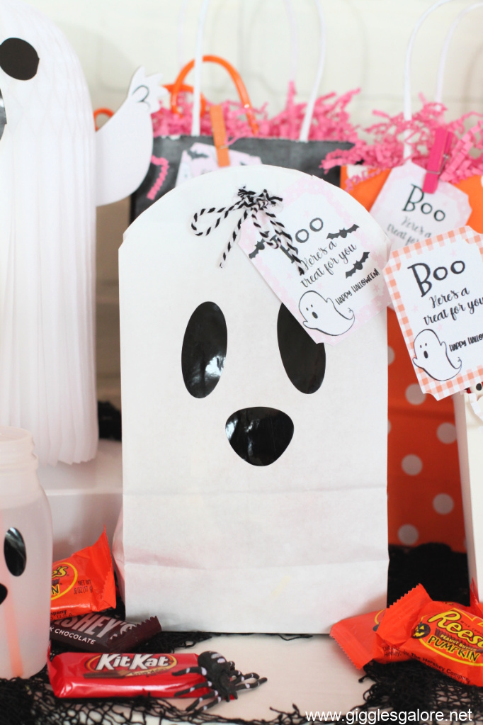 Diy ghost boo bags