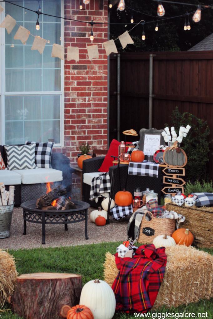 Fall bonfire party ideas