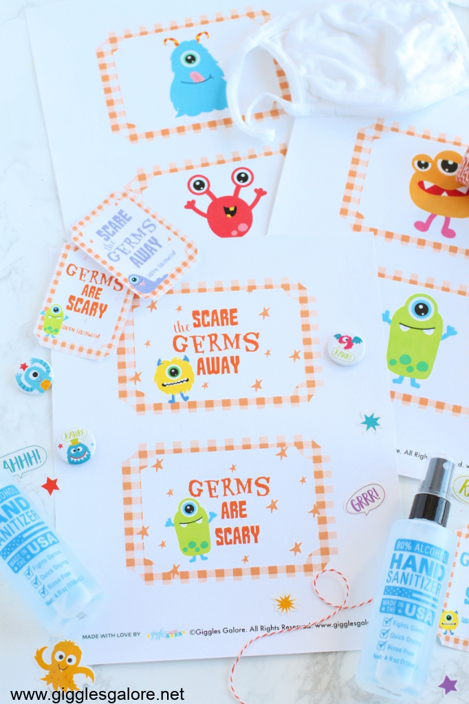 Germs are scary halloween printable