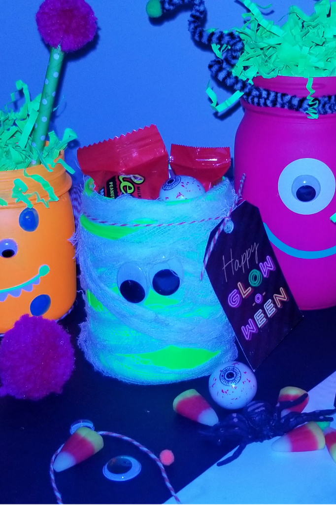 Glow in the dark mummy jar