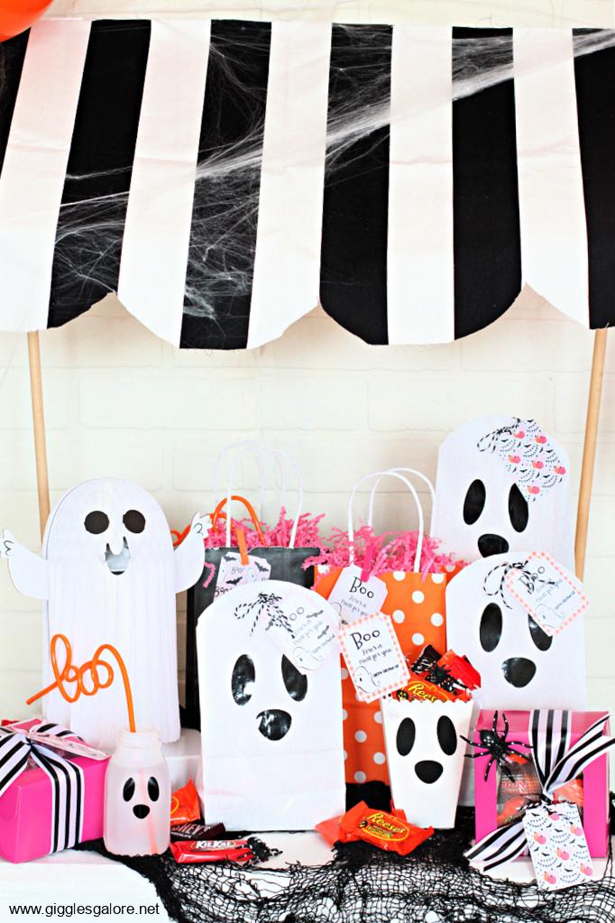 Halloween ghost boo bags