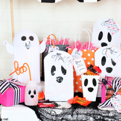 DIY Halloween Ghost Boo Bags