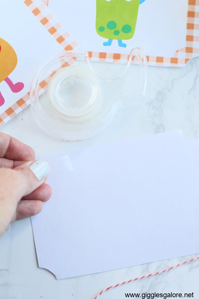 Hand sanitizer label tape