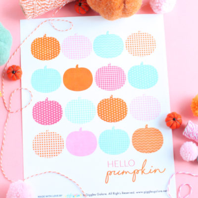 Colorful Hello Pumpkin Printable Sign