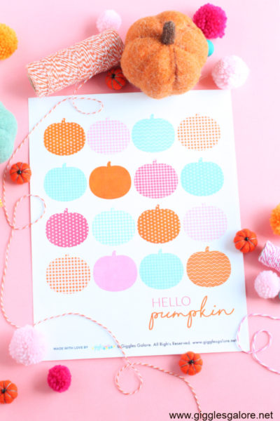 Hello pumpkin printable sign