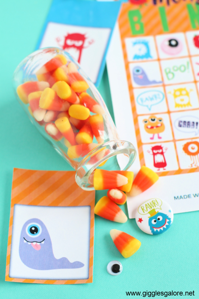 Monster bingo candy corn markers