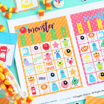 Monster Bingo Printable Game