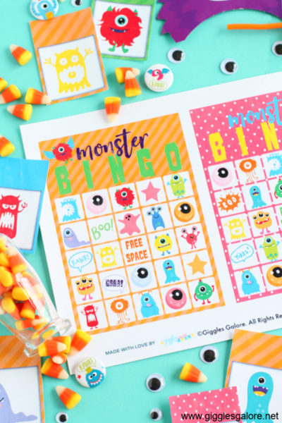 Monster bingo card printable game