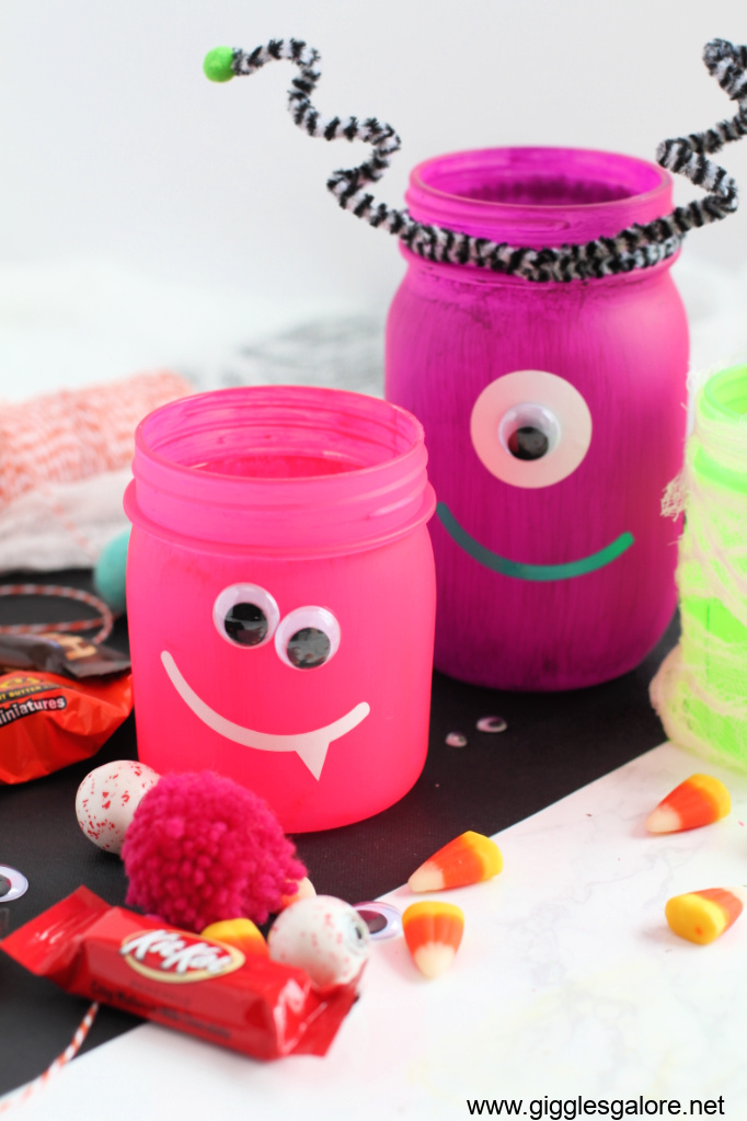 Monster face jars