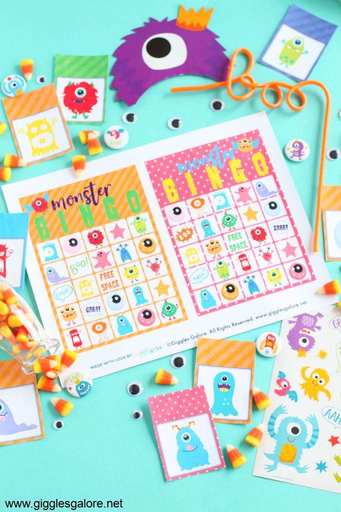 Printable monster bingo game