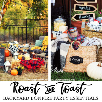 Host a Roast and Toast Fall Backyard Bonfire Party