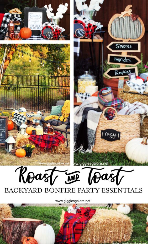 Roast and toast backyard bonfire party essentials