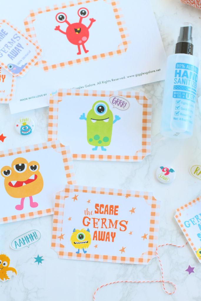 Scare the germs away printable