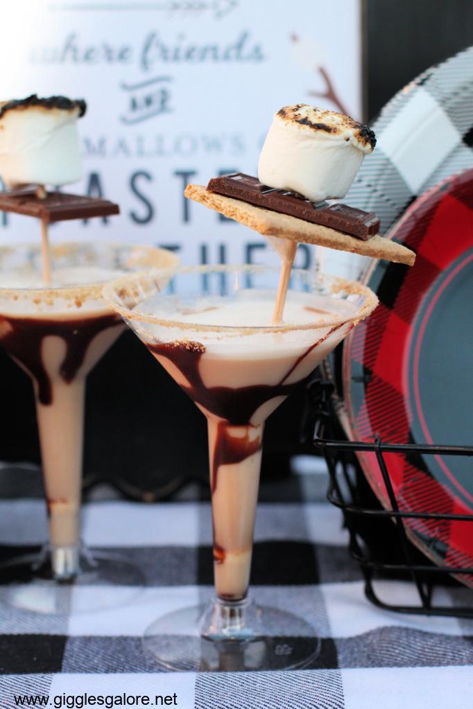 Smores martini cocktail