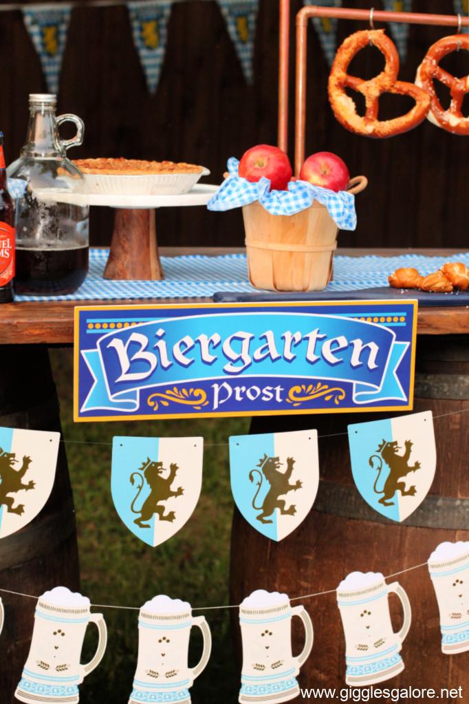 Biergarten banners