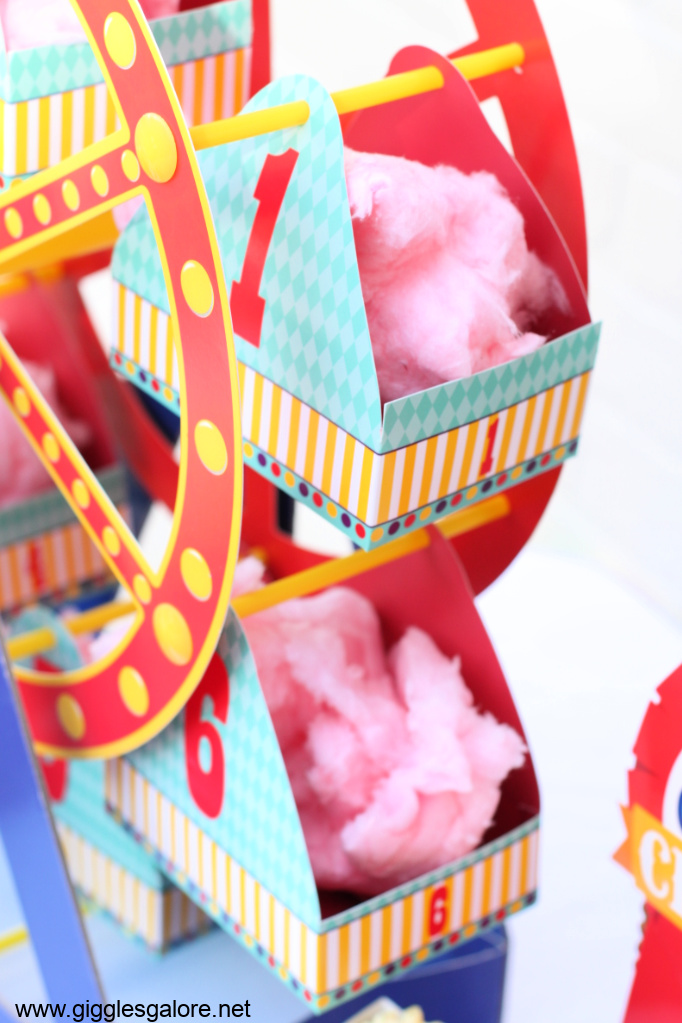 Cotton candy ferris wheel