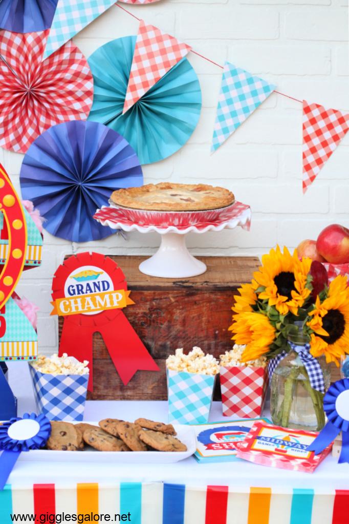 County fair food display