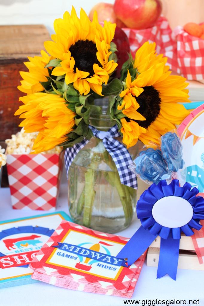 County fair party sunflowers