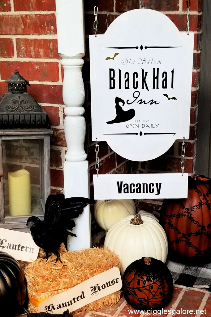 Diy black hat inn sign