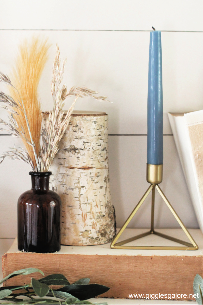 Modern gold taper candle stick