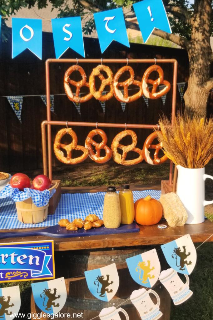 Oktoberfest pretzel bar