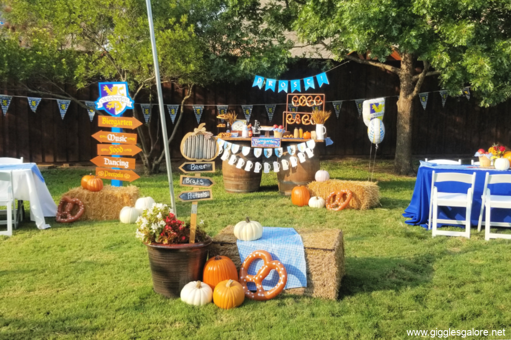 Outdoor oktoberfest party