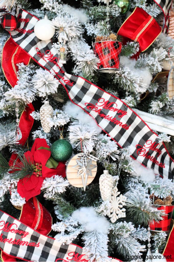 Buffalo plaid merry christmas ribbon
