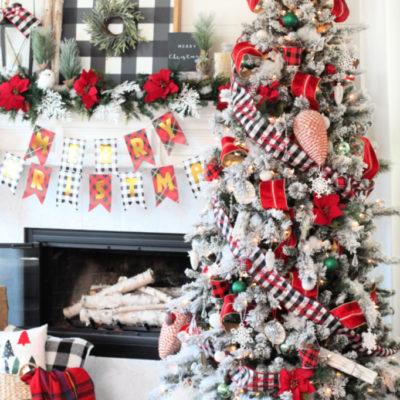 Cozy Classic Red Plaid Christmas Tree