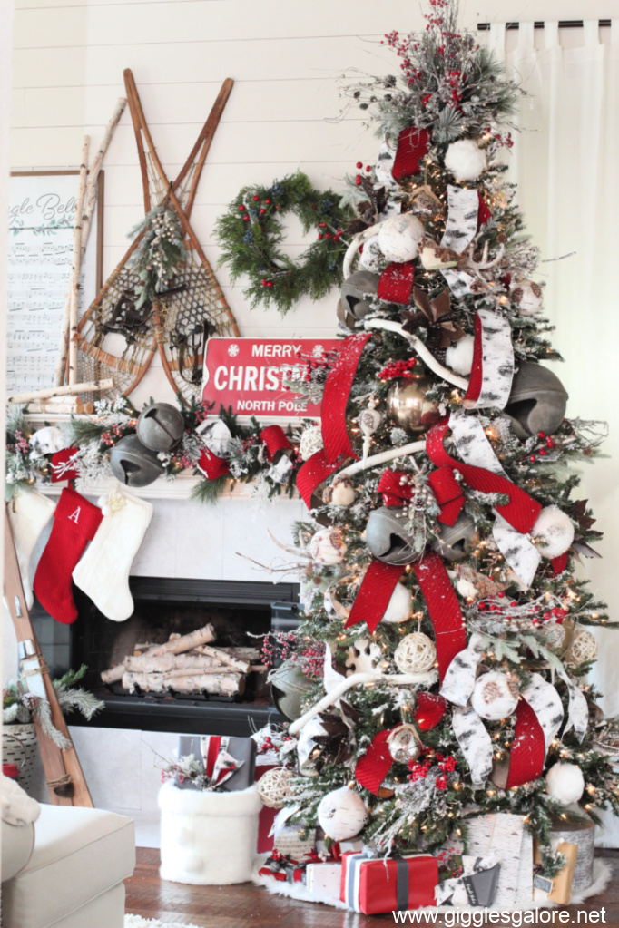 Jingle bell woodland christmas tree
