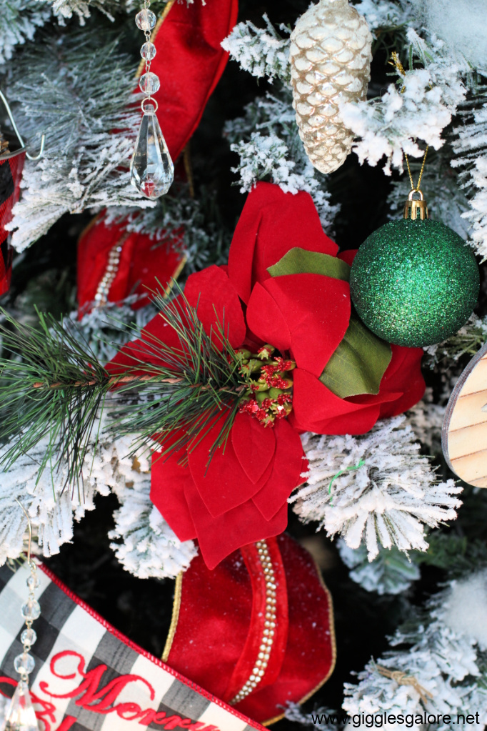 Poinsetta and ornaments