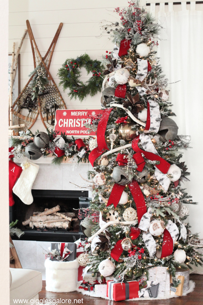 Rustic christmas decorations woodland christmas tree