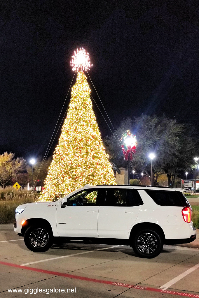 Christmas tree and chevy tahoe